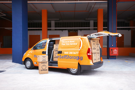 van services at Mandarin Self Storage